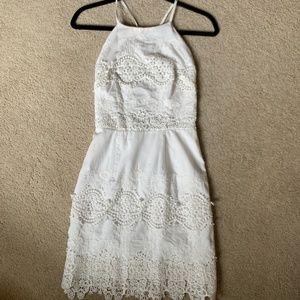 Altar'd State white crochet halter top dress